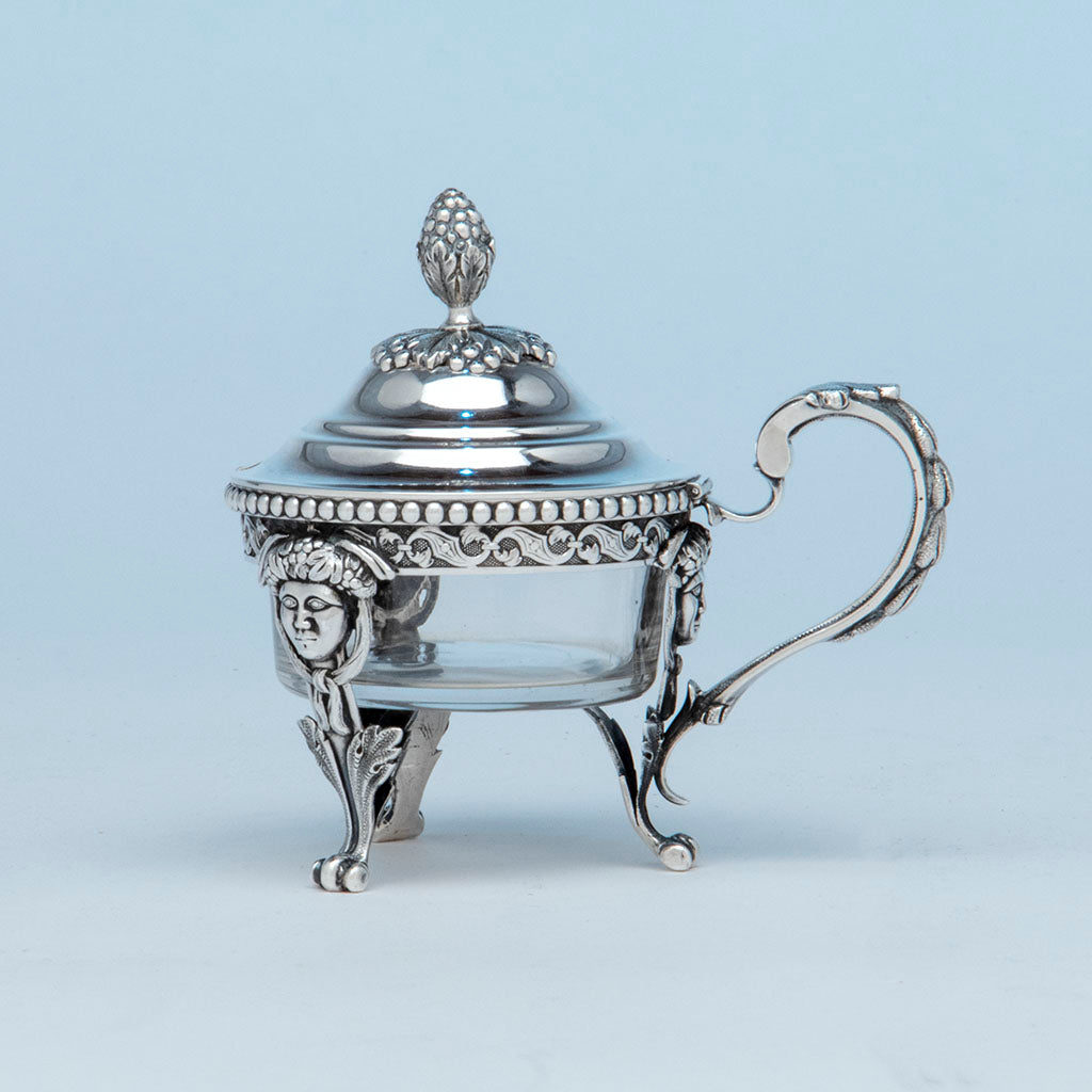 Baldwin and Co. Antique Coin Silver Mustard Pot, Newark, NJ, 1845-55