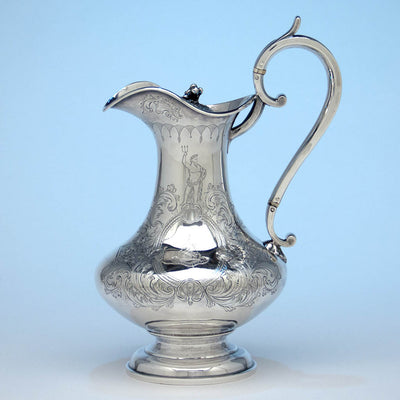 Richard Sawyer Irish Antique Sterling Silver Covered Hot Beverage Jug, Dublin, 1833/34