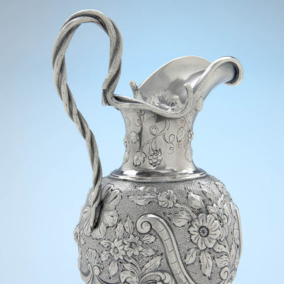 Handle to Obiadiah Rich Antique Sterling Silver Cream Jug, Boston, MA, c. 1840