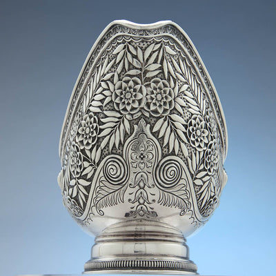 Spout to Tiffany & Co. Antique Sterling Silver Aesthetic Movement Sauce Boat, New York City, 1875-91