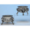 Robert & Samuel Hennell Pair of Antique English Sterling Silver Master Salts, London - 1809/10