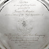 Inscription on one The Kalo Shop Arts & Crafts Sterling Chased Presentation Service Plates, Chicago, IL, 1915 set of 12