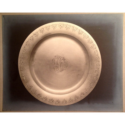 Kalo Shop photo of the The Kalo Shop Arts & Crafts Sterling Chased Presentation Service Plates, Chicago, IL, 1915 set of 12