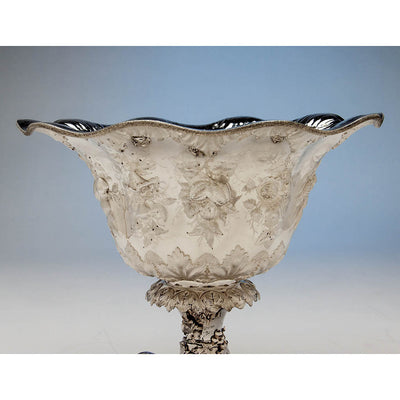 Bowl of William Forbes for Ball, Black & Co Antique Coin Silver Large Centerpiece/ Punch Bowl, New York City, 1852-62