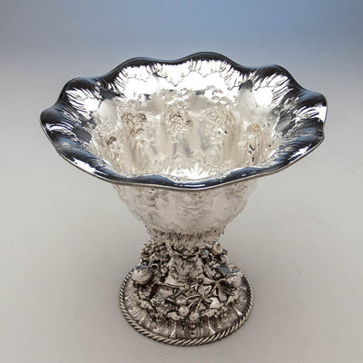 Top of William Forbes for Ball, Black & Co Antique Coin Silver Large Centerpiece/ Punch Bowl, New York City, 1852-62