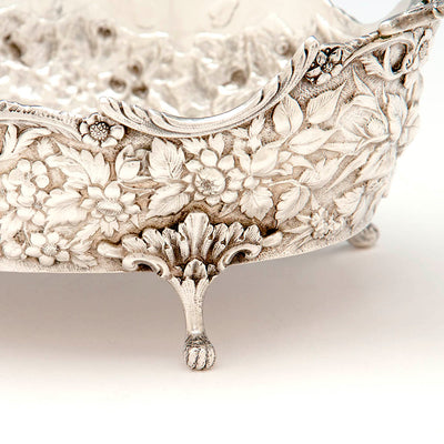 Foot of the Andrew E. Warner 11oz Silver Bread or Fruit Basket, Baltimore, c. 1850s