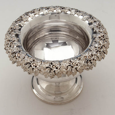 Top of Thibault & Brothers Antique Coin Silver Presentation Centerpiece or Punch Bowl, Philadelphia, 1828