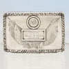 American Coin Silver Antique Presentation Tobacco or Snuff Box of 7th Regiment National Guard Interest, prob. NYC, c. 1840