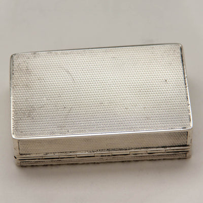 Bottom of American Coin Silver Antique Presentation Tobacco or Snuff Box of 7th Regiment National Guard Interest, prob. NYC, c. 1840