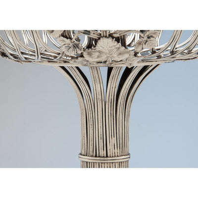 Neck of Eoff & Shepard for Ball, Black & Co. Antique Coin Silver Wirework Centerpiece Fruit Bowl, New York City, 1852-60
