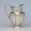 Alan Place for Old Newbury Crafters Modern Sterling Arts & Crafts Water Pitcher, Amesbury, MA, 1991, retailed by Gumps, San Francisco, CA
