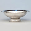 Alan Place Modern Sterling Arts & Crafts Oval Centerpiece Bowl, Amesbury, MA, 1991