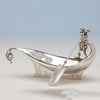 Gorham Antique Sterling Silver Figural Pickle or Olive Dish, Providence, RI, 1875, of White House interest