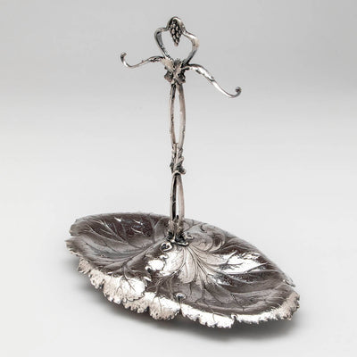 Redlich & Co Antique Sterling Silver Double Grape Dish, NYC, c. 1900