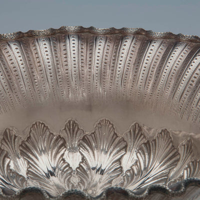 Border to George Sharp for Bailey & Co Antique Sterling Silver Centerpiece Bowl, Philadelphia, PA, c. 1865