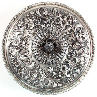 Cover to Jacobi & Co Sterling Repousse Entree Serving Dish, Baltimore, MD, c. 1880