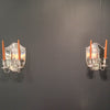 Antique Sheffield Plate Pair of Double-arm Wall Sconces, Sheffield, England, c. 1800