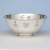Arthur Stone Arts & Crafts Sterling Silver Thistle Decorated Bowl, Gardner, MA, c. 1914