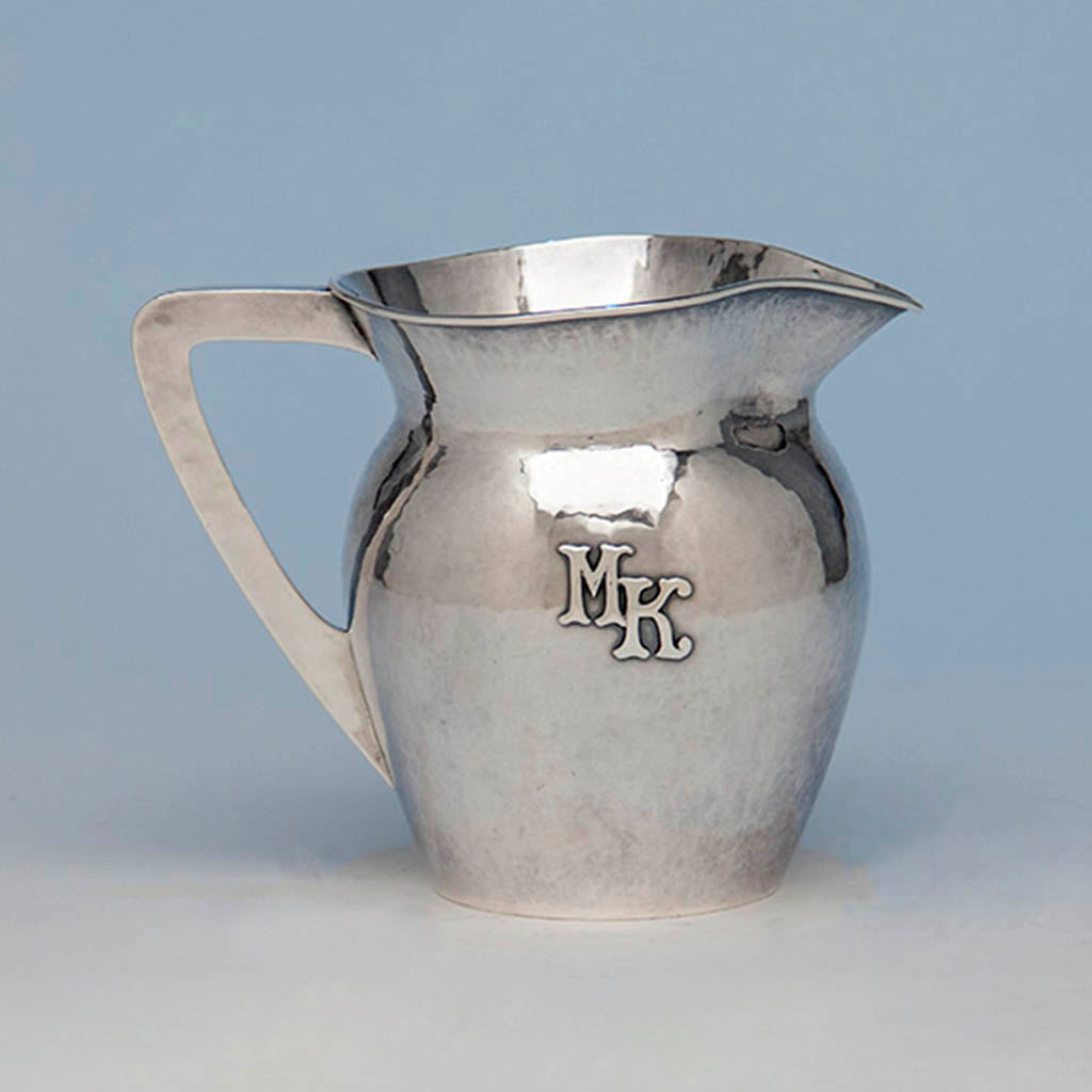 Lebolt Sterling Silver Arts & Crafts Milk Pitcher, Chicago, c. 1920