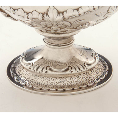 Base to Obadiah Rich Antique Sterling Silver Sauce Boat, Boston, MA, c. 1840's