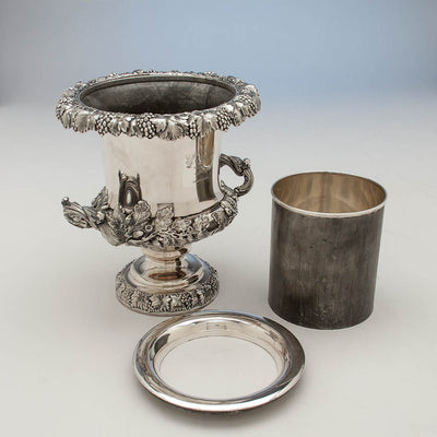 Parts to Antique Sheffield Plate Pair of Wine Coolers, England, c. 1820