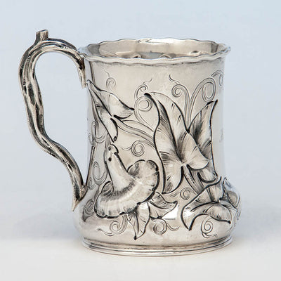 John Chandler Moore Antique Coin Silver Large Child's Cup, New York City, c. 1848-49