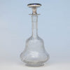 La Pierre Sterling and Libby (attr.) Cut Glass Claret Jug or Decanter, Newark, NJ, c. 1900
