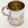 Interior of Wood & Hughes Antique Coin Silver Figural Child's Mug, NYC, c. 1845-50