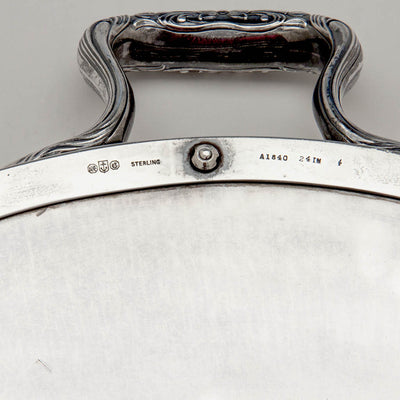 Gorham Rare Sterling & Silver Plate Massive Art Nouveau Gallery Tray, Providence, RI, 1915