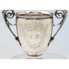 Monogram on Gorham Antique Coin Silver Celery Vase, Providence, RI, c. 1860