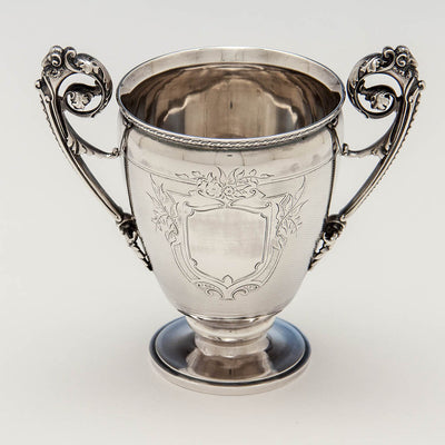 Interior of Gorham Antique Coin Silver Celery Vase, Providence, RI, c. 1860
