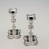 Top view of Simon Jouet Pair of George II Antique Sterling Silver Candlesticks, London, 1748/49