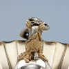 Cherub back on Gorham Antique Sterling Silver Figural Berry Dish, Providence, RI, 1872