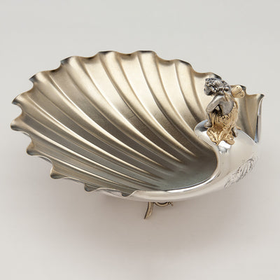 Top of Gorham Antique Sterling Silver Figural Berry Dish, Providence, RI, 1872