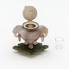 Open Eleder-Hickok Co Sterling Mounted Japanese Agate Inkwell, Newark, NJ, c. 1920's