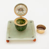 Parts to Edward Farmer Sterling, Jade and Carnelian Inkwell, NYC, c. 1920's