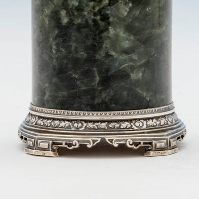 Base of Eleder-Hickok Co Sterling Mounted Japanese Container, Newark, NJ, c. 1920's