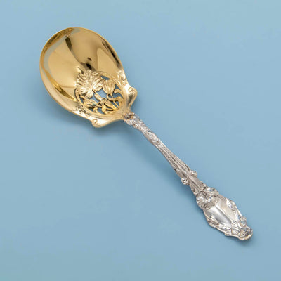 Gorham Virginia Antique Sterling Silver Ice Serving Spoon, Providence, RI, c. 1905