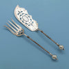 George Sharp Antique Sterling Silver Fish Servers, Philadelphia, PA, 1866-73