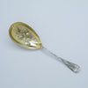 Wood & Hughes Cashmere Pattern Sterling Berry Spoon, NYC, c 1880