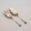 Wood and Hughes 'Medallion' Pattern Antique Sterling Fish Serving Set, NYC, c. 1870