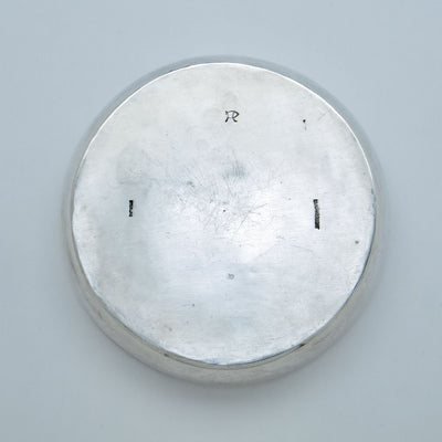 Marks on Henry Petzal Modern Sterling Silver Covered Dish, Shrewsbury, New Jersey, c. 1965