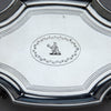 Engraving on Peter, Ann & William Bateman Antique English Silver Tea Pot Stand, London, 1803/04