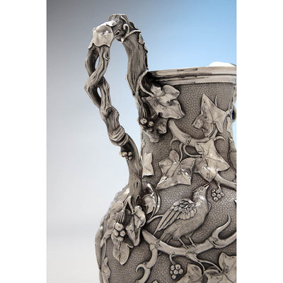 Handle to William Bogert for Tiffany & Co Antique Sterling Silver Ewer, New York City, c. 1872