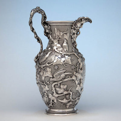 William Bogert for Tiffany & Co Antique Sterling Silver Ewer, New York City, c. 1872