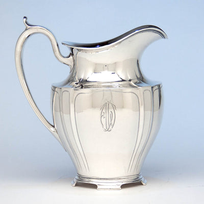 Arthur Stone Arts & Crafts Sterling Silver Decorated Water Pitcher, Gardner, MA, c. 1920's