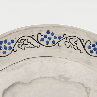 Border detail of Mary Knight Arts & Crafts Sterling Silver Mayonnaise Set, Boston or Wellesley Hills, MA, c. 1907