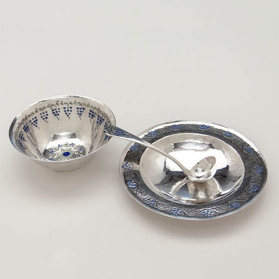 Parts of Mary Knight Arts & Crafts Sterling Silver Mayonnaise Set, Boston or Wellesley Hills, MA, c. 1907