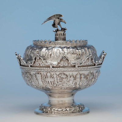 S. Kirk & Son Antique Silver Covered Monteith, Baltimore, 1846-61