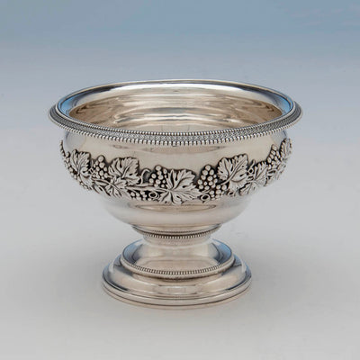 Waste bowl to Harvey Lewis Antique Coin Silver 5 Piece Tea Service, Philadelphia, 1811-1828